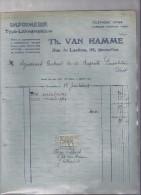 Imprimerie Th. Van Hamme - Bruxelles - 1924 - Printing & Stationeries
