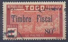 TOGO - F 73  80C SUR 1F TIMBRE POSTAL UTILISATION FISCALE - OBLITERE - Used Stamps
