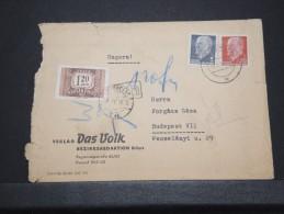 Allemagne REP DEM - Env Pour La Hongrie Taxée - Juin 1963 - A Voir - P16780