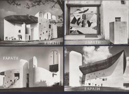 70-RONCHAMP-Chapelle De Notre-Dame Du Haut-Le Corbusier -Lot De 10 Cartes Postales Non écrite -6 Scans- 10.5 X 15 - - Ansichtskarten