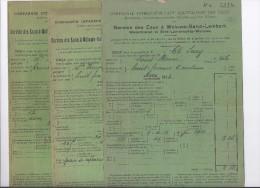 Comp.Intercomm.Bruxelloise Des Eaux - 1910-1913 - Electricity & Gas