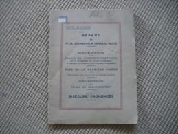 Livre Départ Du Gouverneur RESTE, 1935. - Ivory Coast