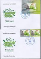 Az  1138-1140 Bl.164 MNH** Azerbaijan Aserbaidschan 2016 Europe Stamps 2016 Set+Ss Think Green FDC - 2016