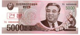NORTH KOREA SET 3 UNC 1000 - 5000 WON 2010 SPECIMEN - Korea (Nord-)