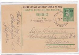 ITALY YUGOSLAVIA TRIESTE ZONA B STT VUJNA 1949 STO TLT STT CARTE POSTALE DOPISNICA  POSTAL CARD CARTOLINA POSTALE - Storia Postale