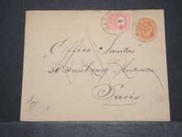 HONGRIE - Entier Avec Complément D'affr. Pour Paris - Dec 1894 - A Voir - P16789