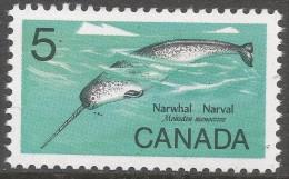 Canada. 1968 Wildlife. Narwhal. 5c MNH. SG 622 - 1952-.... Reign Of Elizabeth II