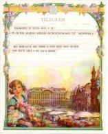 Telegram Telegramme Message Telegramm Huwelijk Mariage Marriage  Wensen Souhaits Wunsche Wishes - Boda