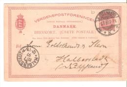 Entero Postal De Dinarmaca  Matasello De 1897. - Enteros Postales