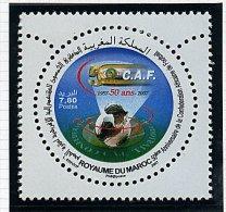 Maroc ** N°1455 - 50e Ann. De La C.A.F. (foot) - Morocco (1956-...)