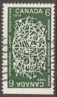 Canada. 1969 50th Anniv Of International Labour Organisation (ILO). 6c Used. SG 635 - 1952-.... Reign Of Elizabeth II