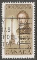 Canada. 1969 Birth Bicentenary Of Sir Isaac Brock. 6c Used. SG 643 - 1952-.... Reign Of Elizabeth II