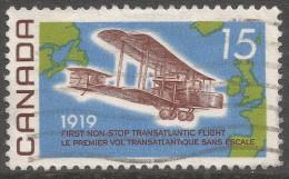 Canada. 1969 50th Anniv Of First Non-stop Transatlantic Flight. 6c Used. SG 636 - 1952-.... Reign Of Elizabeth II