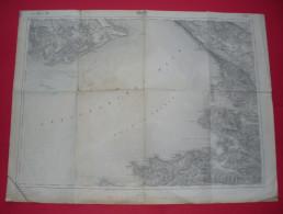 1916 - Italy + Slovenia - Trieste Muggia Grado Capodistria Isola Pirano Portorose Etc. , Map 5751 Triest --- 04 - Carte Topografiche