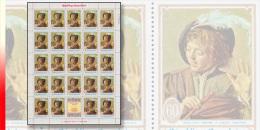 Rwanda 0297** 60c Peinture Et Musique - Feuille / Sheet De 24 - MNH  + Label !  FRANS HALS - Rwanda