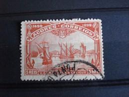Açores - Année 1898 - Vasco De Gama 5r Vermillon - Y.T. 91 - Oblitéré - Used - Gestempeld - Portugal
