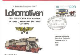 R  DDR MI# 3015  Lokomotiven Der Deutschen Reichsbahn  Bahnpoststempel Zug 0898 - Treinen
