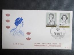 1233/38 - Koninginnen Van België - 2 FDC's - Cote € 11 - Belgium