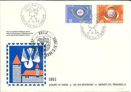 Lettre Suisse 1965  * Journée Du Timbre à 1630 Bulle * Oblitéré Du 1er Jour - Poststempel