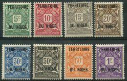 Niger (1921) Taxe N 1 à 8 * (charniere) - Niger (1921-1944)