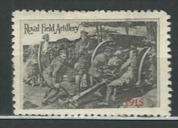 ERINNOFILO MILITARE  GRAN BRETAGNA   ROYAL FIELD ARTILLERY 1915 - Cinderellas