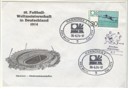 GERMANY Cover For The Match Brasil - Argentina 2:1 In Hannover On 30-6.74 With Black Soccer Cancel - Coppa Del Mondo