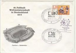 GERMANY Cover For The Match Jugoslavia - Poland 1:2 In Frankfurt Am Main On 30-6.74 With Black Soccer Cancel - Coppa Del Mondo