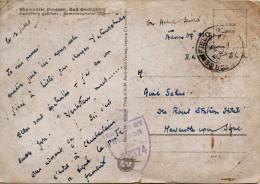 Oblitération FIELD POST- Tampon  PASSED BY CENSOR N°12374 Sur  Carte Postale Rheinhotel Dreesen- BAD GODESBERG - Marcofilie