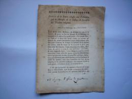 Révolution Lettre Adressée Aux Tribunaux Par Ministre De La Justice Concerne Troubles Religieux 1792 Signée Duranthon - Wetten & Decreten