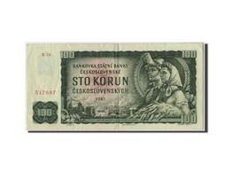 Tchécoslovaquie, 100 Korun, 1961, Non Daté, KM:91c, TTB - Tchécoslovaquie