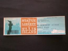 BIGLIETTO STATUA DELLA LIBERTA ELLIS ISLAND NEW YORK (USA) - Biglietti D'ingresso