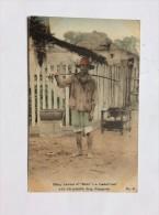 AK   SINGAPUR   SINGAPORE      MALAY HAWKER OF SATTE  I.E. LOASTED BEEF TITH HIS PORTABLE SHOP - Singapore