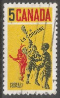 Canada. 1968 Lacrosse. 5c Used. SG 625 - 1952-.... Reign Of Elizabeth II