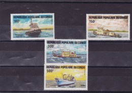 CONGO :bateaux : Y&T :730** à 733** - Neufs