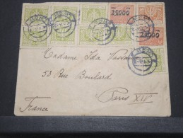 POLOGNE - Env Affranchissement Spectaculaire Pour Paris - Avril 1924 - A Voir - P16799 - Albanie