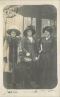 MODE 1900 - Femmes Aux Chapeaux (Paris, Carte Photo). - Mode