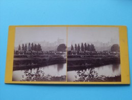 WINDSOR CASTLE - North Terrace N° 445 - Photo G. W. Wilson & C° Aberdeen / Stereo Photo ( Voir Photo Pour Detail ) ! - Stereoscopio
