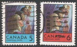 Canada. 1969 Christmas. Used Complete Set. SG 644-645 - 1952-.... Reign Of Elizabeth II