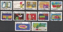 Canada. 1970 Christmas. Used Complete Set. SG 661-672 - 1952-.... Reign Of Elizabeth II