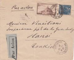 1934 LETTRE. PAR AVION POUR LE TONKIN INDOCHINE. AVIGNON VAUCLUSE HANOI. VERSO CACHETSMARSEILLE. SAIGON. HANOI  / 2079 - 1921-1960: Periodo Moderno