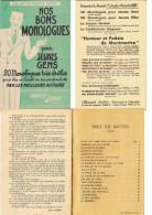 Recueil De 20 Monologues Trés Droles Collection Marcel LABBE - Bücher, Zeitschriften, Comics