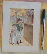 Au Printemps : « Le Costume Des Enfants » Signé JOB : Pendant Le 1er Empire - Chromos