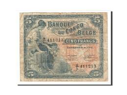 Congo Belge, 5 Francs, 1952, KM:13b, 1952-02-15, TB - Belgian Congo Bank