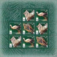 Russia 2007 Fauna Endangered Animals Stork Birds Mammals Leopard WWF W.W.F Sheetlet Stamps MNH Michel 1434-1436 - W.W.F.
