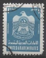 UAE 1976 Crest - 1d. - Blue  FU - Verenigde Arabische Emiraten