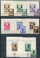 Espagne        Timbres De Propagande  **  De 1937    Avec Blocs Individuels, Manque Deux Timbres - Nationalist Issues