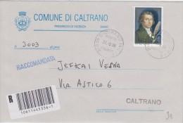 Salieri  Isolato Su Raccomandata  Rarità Non Filatelica - 1991-00: Marcophilia
