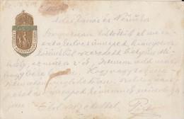 CPA COAT OF ARMS, ROYAL CROWN, NATIONAL SACRIFICE STATUE - Cartes Postales