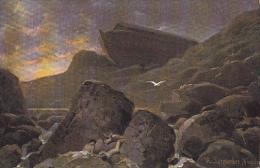 CPA PAINTINGS, R. LEINWEBER- AFTER THE FLOOD - Malerei & Gemälde