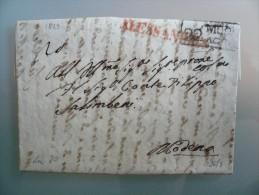 Prefilatelia - Prefilatelica - Da Alessandria A Modena - 1829 - 1. ...-1850 Prephilately